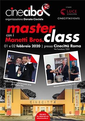 Masterclass di Cinecibo a Cinecittà con i Manetti Bros.